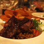 Slow Cooked Wild West Meath Venison.... pearl barley & red wine stew, crispy potato garnish