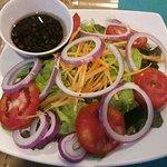 Yummy Ribeye steak and salad