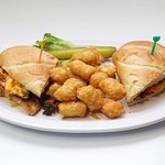Philly Cheese Steak & Tots @ the Guaranty Café