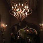 Interesting chandeliers and Moroccan influenced archways