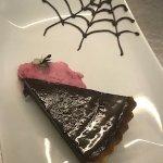 Chocolate Tart with Raspberry Sorbet