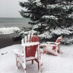 Snow fell on 10/27/17. Big wind off the lake.