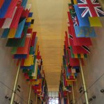 """The """"Hall of Flags"""" for Countries with Diplomatic Relations with the U.S."""