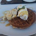 Banana Waffle Vanilla Ice Cream