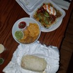 HUGE Burrito and Burrito bowl.