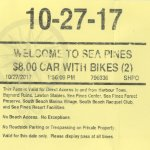 Paying for car and $ 1.00 per bike
