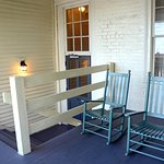 Rocking chairs on porch outside our room