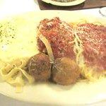 Mama's Sampler Pasta, Zio's Italian Kitchen, Bricktown, Oklahoma City, Oklahoma