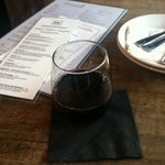 A glass of Cabernet during Happy Hour