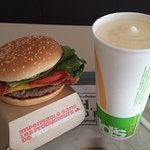 The Quater Pounder and Vanilla Milk Shake