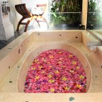 Our beautiful bath tub with flowers!