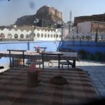 Exceptional view of Mahrangarh fort  and blue city  from amar niwas  restaurant