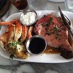 Prime Rib and Crab