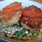 Excellent salmon cakes. Only $12.
