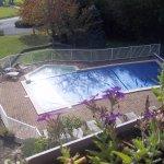 vue de notre chambre sur la piscine