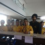 Jet Airways crew feeling Happy at Front Desk