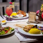 Bali Crispy duck, duck salad, prawn satay