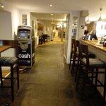 Bar leading to restaurant
