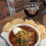 Chili and a stout on a cold day!