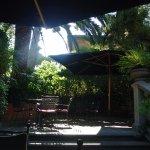 Outside breakfast area if you prefer