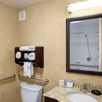 Our accessible rooms offer extra space and hand rails.