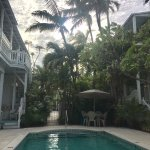 Enjoying secluded paradise from a pool chair and only steps away from all the action!