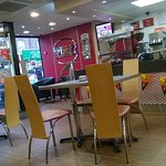 interior of the wimpy restaurant at halloween