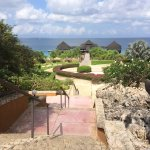 Steps on hillside from buffet restaurant to pool! (between 40 and 50 steps)!