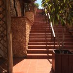 Steps leading to guest rooms, lead to yet more steps (between 40 and 50)