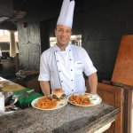 The Chef cook at the Olympus Pool Bar at the Hyatt Regency Deira