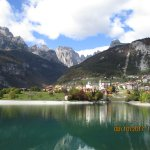 View of Molveno from other side of lake