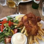 Fish and Chips with side salad