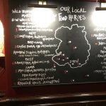 Sorry about photo quality, but such a good idea to tell diners where their food is sourced local