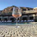 Evening glass of rose' by the Pearl pool