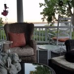 Outdoor porch area, enjoyed by Dexter the cat