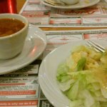 Hot bacon dressing/salad and soup