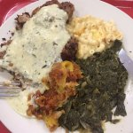 Pork Chop with Mac and Cheese; Turnip Greens and Squash!