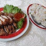 Poulet croustillant et riz cantonais