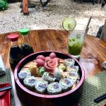 The Red Sushi Platter, and a Mojito