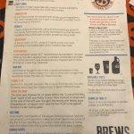 Beer menu November 2017