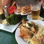 Scallop puff pastry, broccoli w hollandaise, snow crab legs