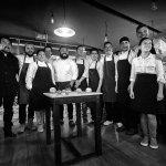 Equipo del Migrante y chefs Invitados Juan David Gracia, Alejandro Fajardo y Lucas Posada