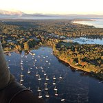 Floating over Lake Champlain