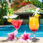 Tropical Cocktails by the pool