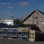 Lobster boat, Nova Scotia east coast.