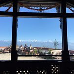 Enjoy the view of the Himalayan Ranges as you sip your coffee...