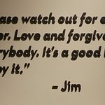 Quotation on the wall from Jim Henson