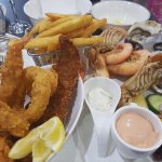 Massive seafood platter with Aussie seafood
