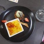 Brule with pistachio icecream