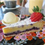 Blue Berry and Almond Tart